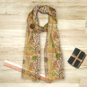 la Magie dans l'Image - foulard végétal beige - Foulard Carré