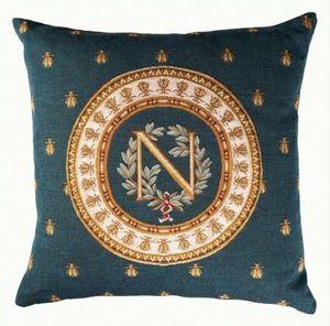 Art De Lys - napoléon, fond bleu - Coussin Carré