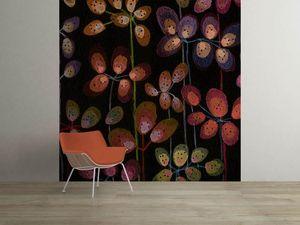 la Magie dans l'Image - grande fresque murale beautiful flowers black - Papier Peint Panoramique
