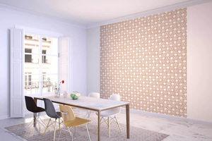 la Magie dans l'Image - grande fresque murale trèfle beige blanc - Papier Peint Panoramique