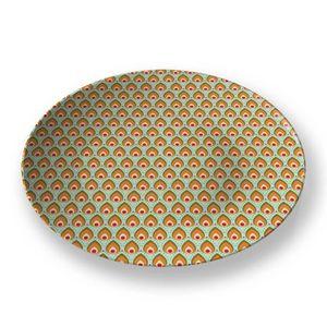 la Magie dans l'Image - assiette pattern paons - Assiette De Présentation