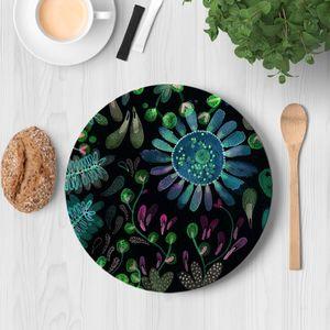 la Magie dans l'Image - assiette prairie hiver - Assiette De Présentation