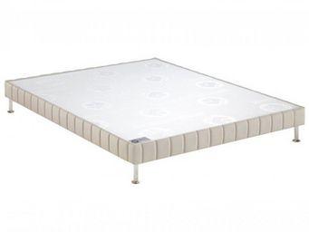 Bultex - bultex sommier tapissier confort ferme pierre 120 - Sommier Fixe À Ressorts