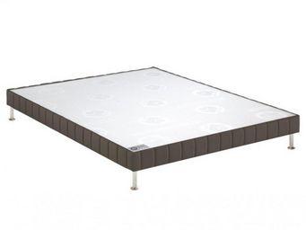 Bultex - bultex sommier tapissier confort ferme taupe 160* - Sommier Fixe À Ressorts