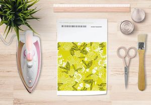 la Magie dans l'Image - papier transfert pivoines moutarde - Transfert