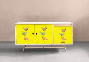 la Magie dans l'Image - adhésif poules jaune - Sticker