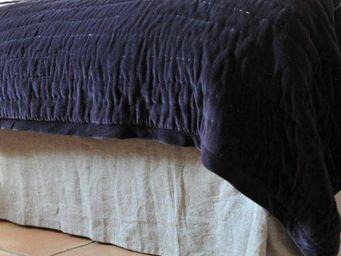 MAISON D'ETE - cache sommier lin lavé naturel - Cache Sommier