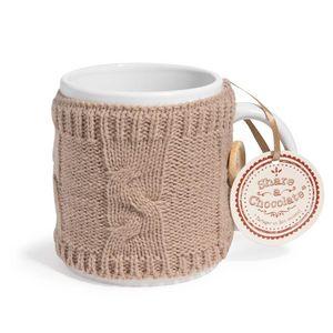 Maisons du monde - mug en faïence taupe lain - Mug