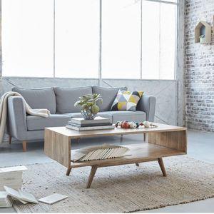 BOIS DESSUS BOIS DESSOUS - table basse en bois de mindy 120 oslo - Table Basse Rectangulaire