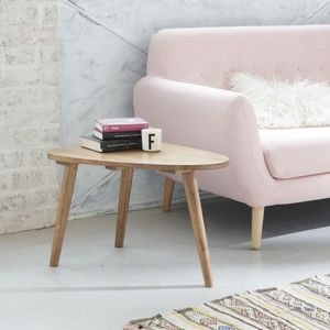 BOIS DESSUS BOIS DESSOUS - table basse en bois de mindy 62 oslo - Table Basse Triangulaire