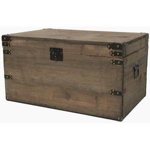 CHEMIN DE CAMPAGNE - coffre de style ancien vieille malle en bois 61 cm - Malle