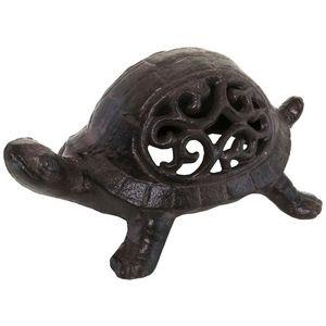 CHEMIN DE CAMPAGNE - statue tortue cache-clef clé bougie photophore bou - Photophore