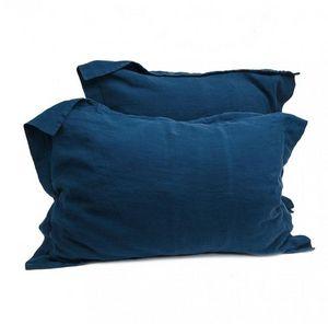 Couleur Chanvre - bleu de nîmes - Taie D'oreiller