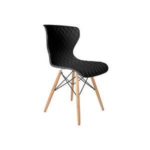 Mathi Design - chaise design capitone avec pieds en bois - Chaise