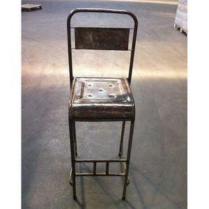 Mathi Design - tabouret en metal vintage - Chaise Haute De Bar