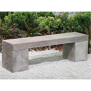 Mathi Design - banc beton massif 2 - Banc De Jardin