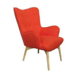 Mathi Design - fauteuil scandinave java orange - Fauteuil
