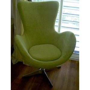 Mathi Design - fauteuil velours cocoon - Fauteuil Rotatif