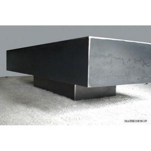 Mathi Design - table basse metallica rectangulaire - Table Basse Rectangulaire