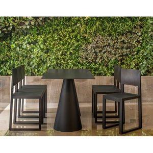 PEDRALI - table ikon noir pedrali - Salle À Manger De Jardin