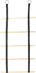 Amadeus - echelle à serviettes en cuir et en bambou - Echelle Décorative