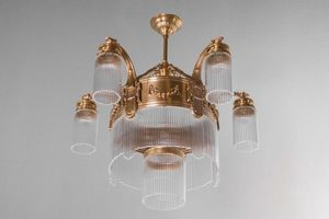 PATINAS - strasbourg 5 armed chandelier - Lustre