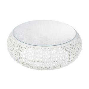 Table anis Confetti - Table de jardin ronde - MAISONS DU MONDE