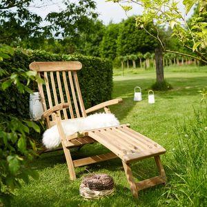 BOIS DESSUS BOIS DESSOUS - steamer en bois de teck midland - Chaise Longue De Jardin