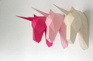 Artwall and CO - licorne papier - Trophée Enfant
