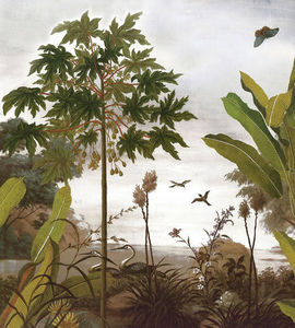 Ananbô - le jardin au papillon couleur - Papier Peint