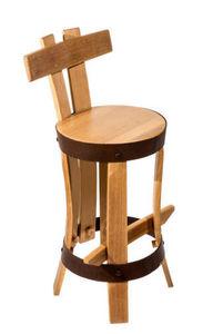 MEUBLES EN MERRAIN - brut de fût__- - Chaise Haute De Bar