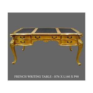 DECO PRIVE - bureau baroque en bois dore modele chippendale dec - Bureau