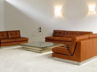 FURNITURE-LOVE.COM - leather 2 seater sofa bed pierre folie charpentier - Fauteuil Lit