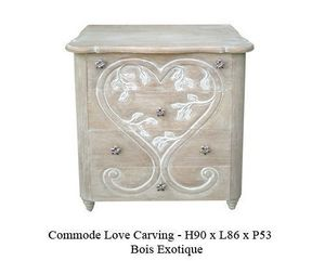 DECO PRIVE - commode love carving cérusée - disponible - Commode