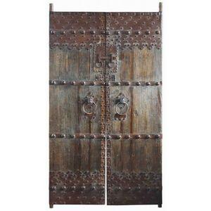 DECO PRIVE - paire de porte en orme - Porte Ancienne