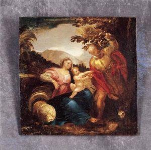 Bertrand Klein - sainte famille - Huile Sur Toile Et Huile Sur Panneau