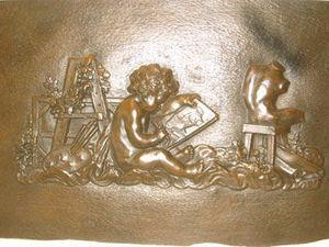 AUX MAINS DE BRONZE - un enfant peintre - Sculpture