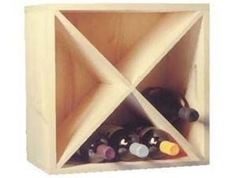 BARCLER - casier de rangement 16 bouteilles en epicéa 40x40x - Caisse À Bouteilles
