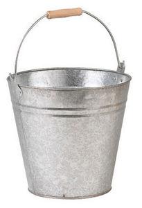 Aubry-Gaspard - seau rond en zinc 8 litres 26x24cm - Seau