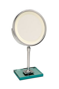 Miroir Brot - elegance c24 sur dalle de verre - Miroir � Poser Lumineux