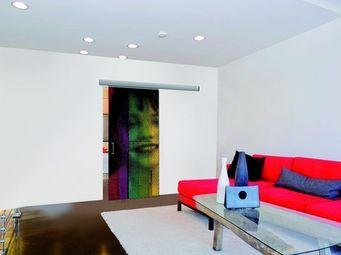 Mantion - personnalisez votre porte grâce à une photo, logo - Porte De Communication Vitrée