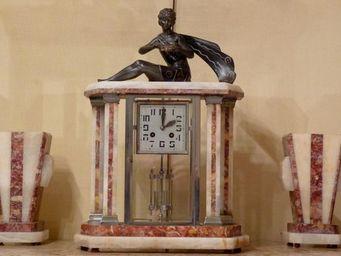 ANTIQUE GERMAIN - pendule d'epoque art deco - Pendule Portique