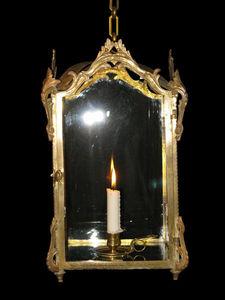 Bauermeister Antiquités - Expertise - petite lanterne de vestibule et bougeoir à main - Lanterne D'intérieur
