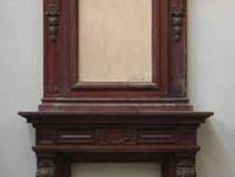GALERIE MARC MAISON - antique mahogany mantel piece with overmantel - Manteau De Cheminée