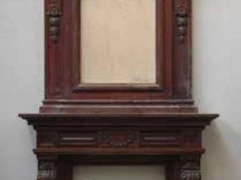 GALERIE MARC MAISON - antique mahogany mantel piece with overmantel - Manteau De Cheminée