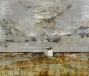 Ingo Fincke Gallery - the white house on the marsh - Huile Sur Toile Et Huile Sur Panneau