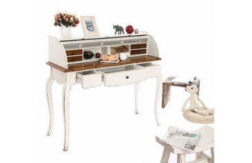 Bureau baroque bois blanc sofia bureau de dame miliboo