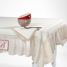 nappe brocante volant nappe rectangulaire maisons du monde. Black Bedroom Furniture Sets. Home Design Ideas
