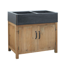 Meuble vier 90 cm pagnol meuble sous vier maisons du - Maison du monde meuble cuisine ...
