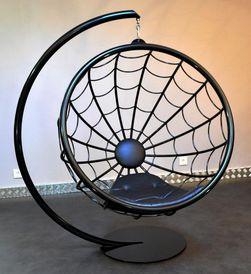 Araknid fauteuil suspendu acier laqu tst mobilier - Fauteuil suspendu habitat ...